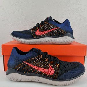 Nike Free RN Flyknit 2018 Navy Blue Crimson